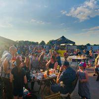 Eating at Sandbach Rock and Pop Festival