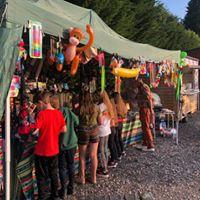 Stall at Sandbach Rock and Pop Festival